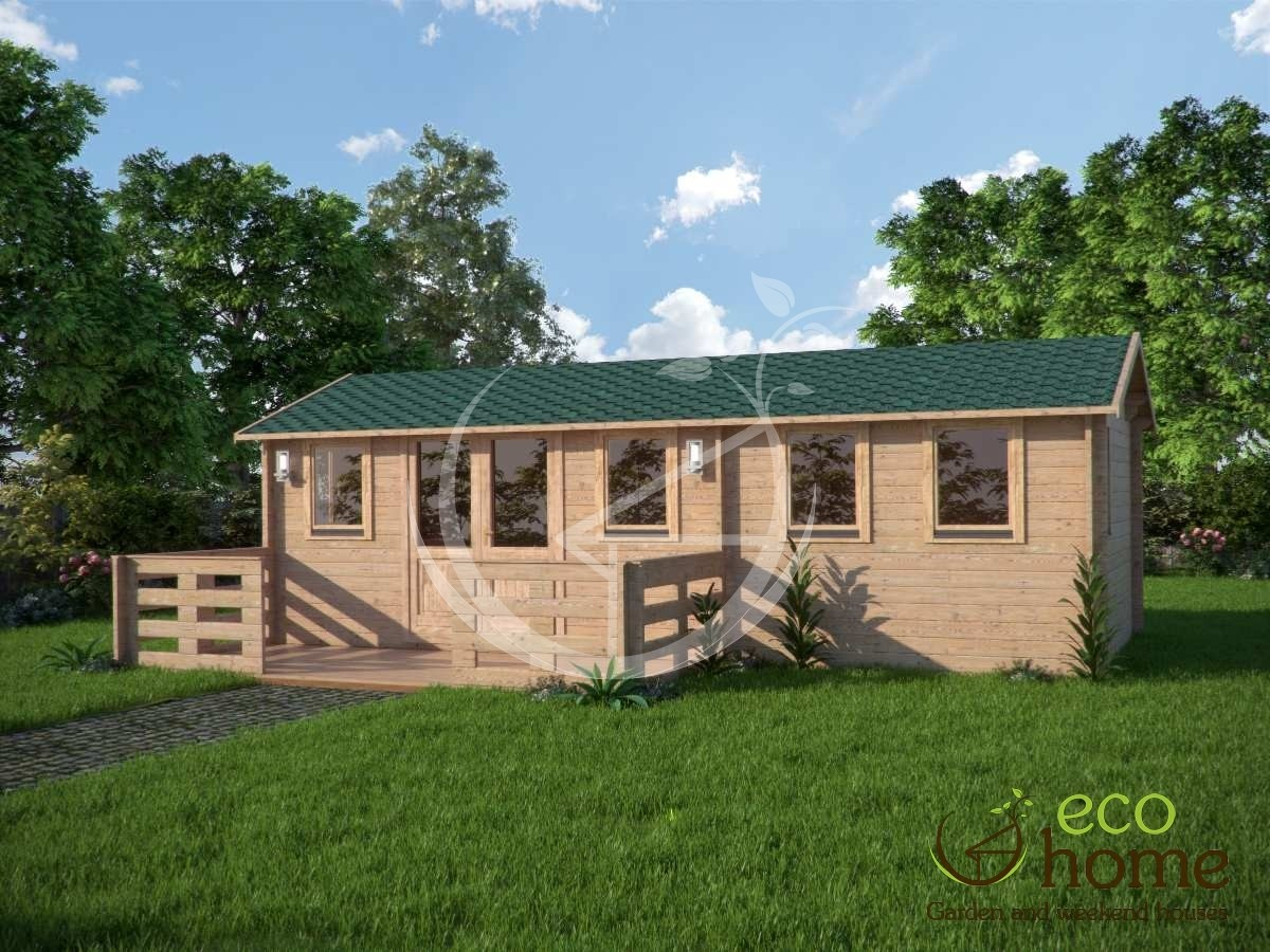 Two Room Log Cabin 44hakan A 6x5 2m Eco Home